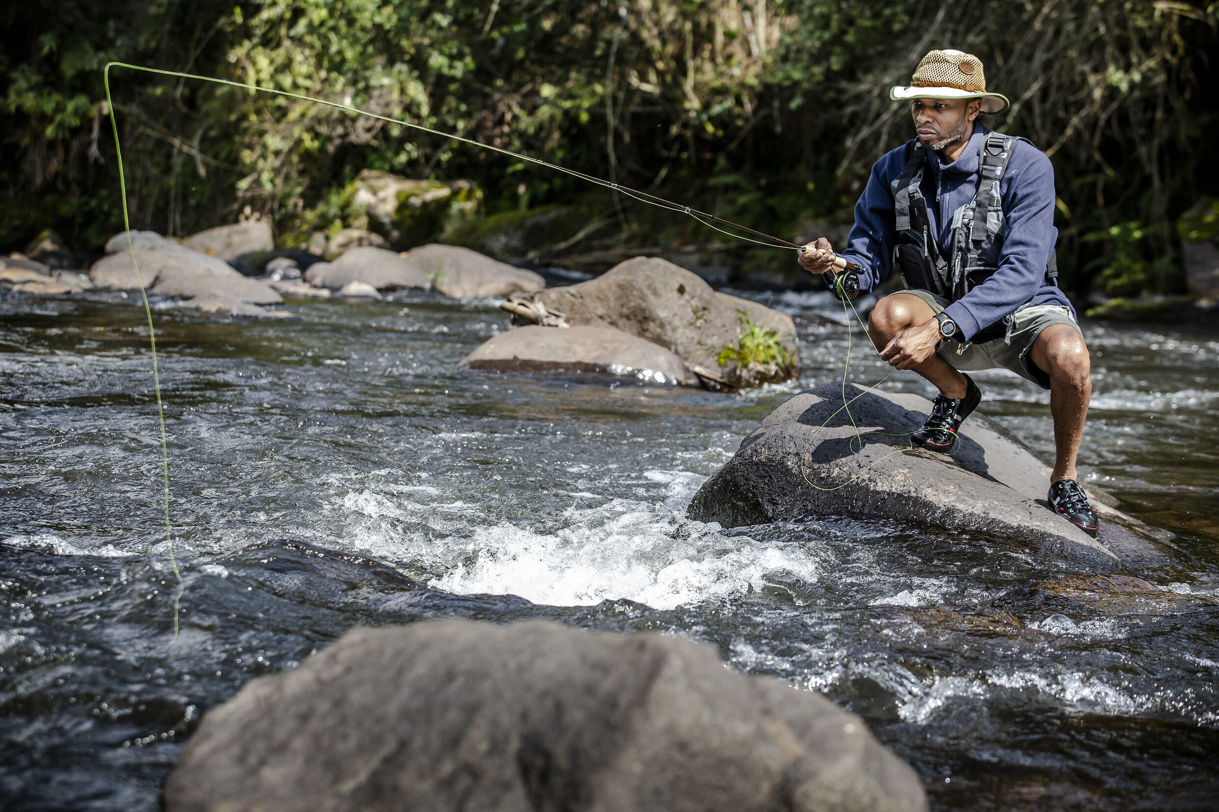 Kenya Fly Fishers' Club administrator Musa Ibrahim said there are now many local Kenyans fishing