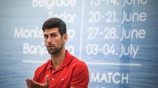 Novak Djokovic le 25 mai à Belgrade