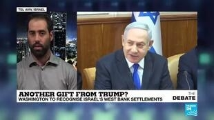 2019-11-19 19:24 'US policy opens door for Netanyahu to annex the West Bank'