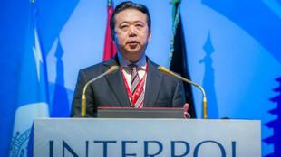 El expresidente de Interpol Meng Hongwei es investigado por haber recibido presuntos sobornos.