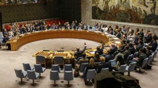 Le Conseil de Sécurité de l'ONU, à New York.