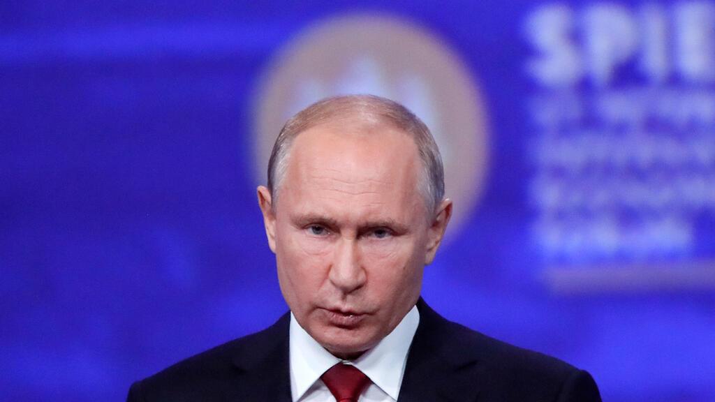 El presidente ruso, Vladimir Putin, pronuncia un discurso durante una sesión del Foro Económico Internacional de San Petersburgo (SPIEF), Rusia, el 7 de junio de 2019.