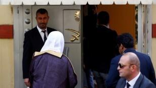 المدعي العام السعودي لدى وصوله إلى قنصلية بلاده بإسطنبول - 30 أكتوبر 2018