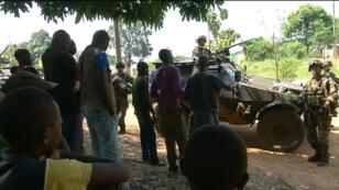 Les troupes françaises patrouillent dans Bangui