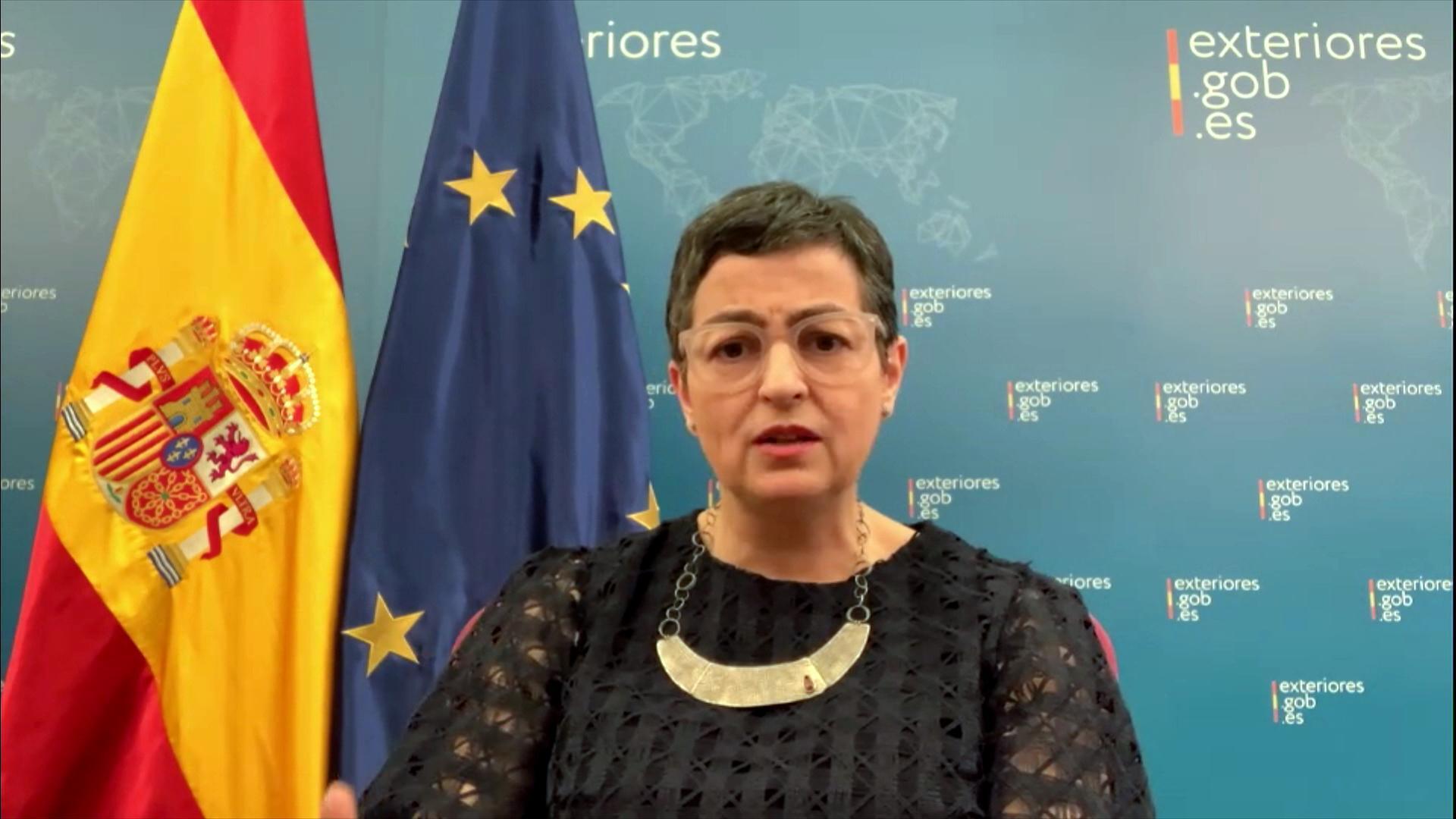 La ministre espagnole des Affaires étrangères, Arancha Gonzalez Laya, le 22 mai 2020.
