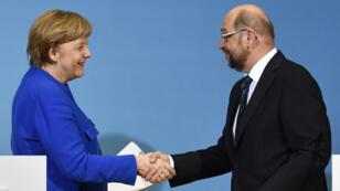 Un accord entre la CDU d'Angela Merkel et le SPD Martin Schulz vient mettre fin à des mois d'incertitude politique en Allemagne.