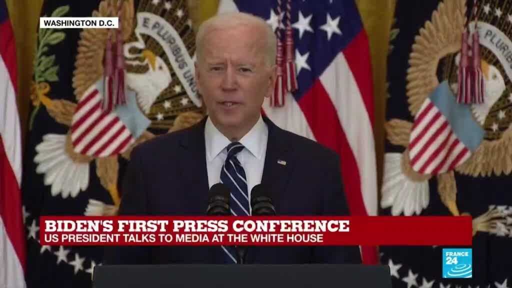 2021-03-25 18:27 Biden announces goal of 200 mn vaccine doses in first 100 days