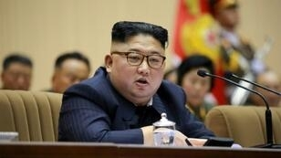 North Korean leader Kim Jong Un, whose regime the group which raided Pyongyang's embassy in Spain wants to bring down