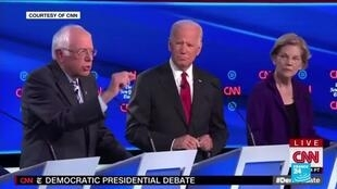 2019-10-16 10:31 Elizabeth Warren found herself as the prime target during US democratic debate