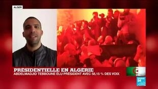 """2019-12-13 14:02 Présidentielle en Algérie : """"Élection truquée, pas d'État militaire !"""", scande la rue"""