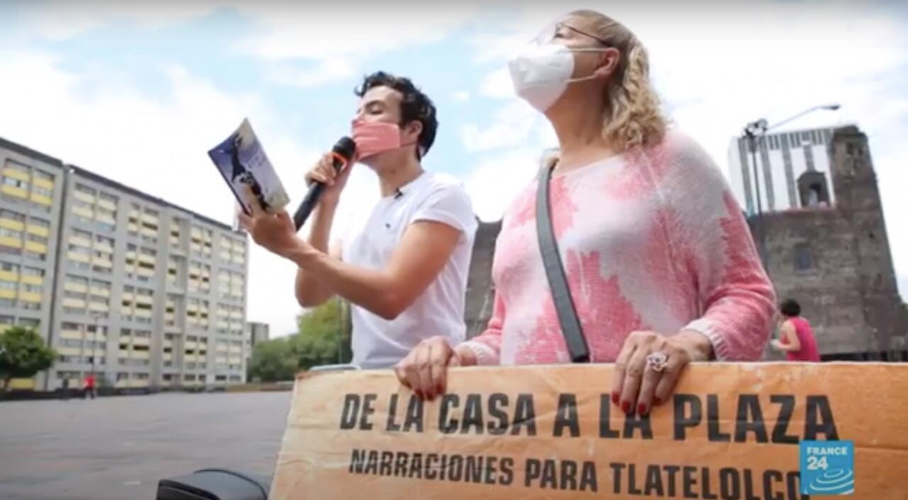 Percibal García, el cuentacuentos de la pandemia en territorio mexicano.