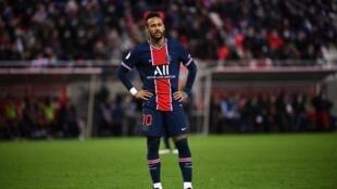 Brazil's Neymar joined Paris Saint-Germain in August 2017