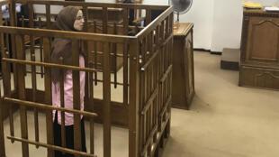 Djamila Boutoutaou, au procès qui s'est tenu à la cour pénale centrale de Bagdad, le 17 avril 2018.
