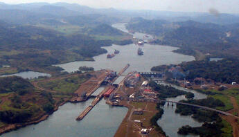 Le canal de Panama.