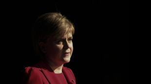 La Première ministre écossaise, Nicola Sturgeon, lors d'un discours à Sheffield (nord de l'Angleterre), le 7 novembre 2016.