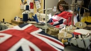Britain's union flag is proving more popular than ever, with orders up roughly 75 percent since last summer.