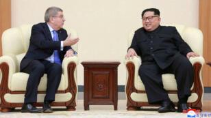 Le président du CIO, Thomas Bach, a rencontré le leader nord-coréen Kim Jong-un à Pyeongchang.