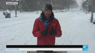 La tempête de neige Jonas a frappé Washington, apportant de 30 à 60 centimètres de neige, le 23 janvier 2016.