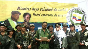Captura de pantalla del video en el que 'Iván Márquez', líder de las FARC, anuncia que retoma las armas.
