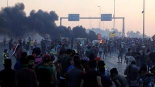 مظاهرات في العاصمة العراقية بغداد، 5 أكتوبر/تشرين الأول.