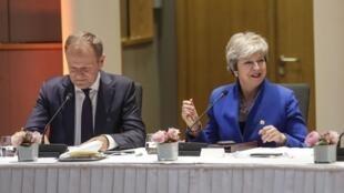 Les dirigeants européens se réunissaient à Bruxelles mercredi 10avril pour un nouveau sommet consacré au Brexit.