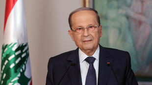 Lebanese President Michel Aoun addressed the nation on the third anniversary of his presidency from the presidential palace in Baabda on October 31.