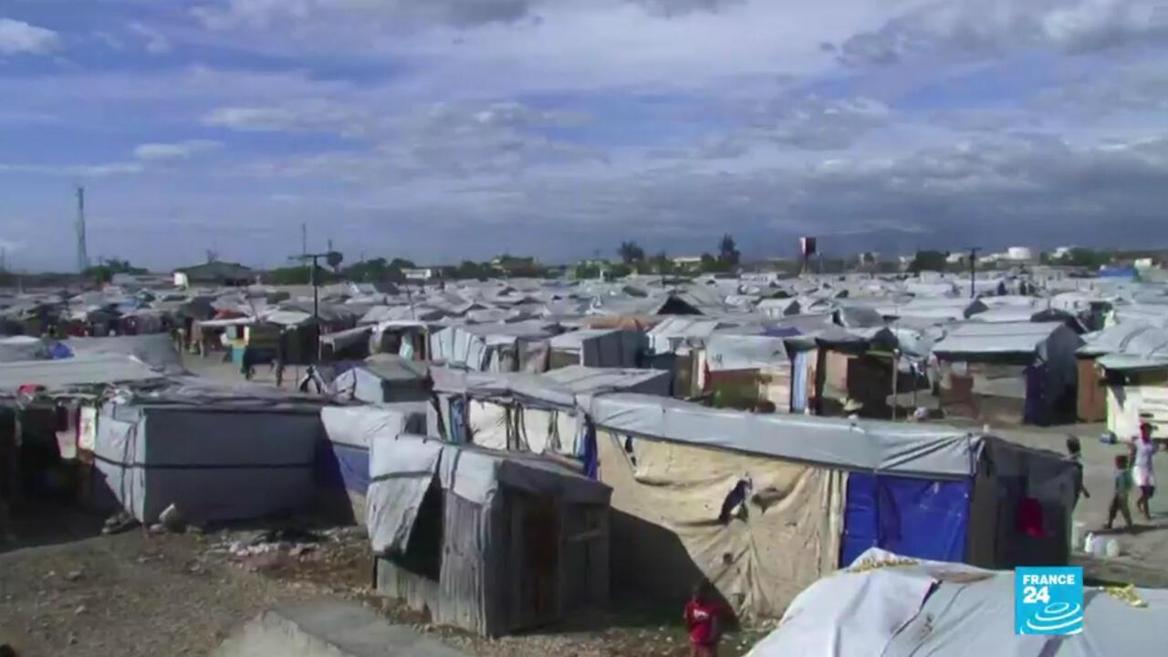 Haiti makeshift camp