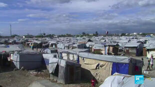Haiti makeshift camp
