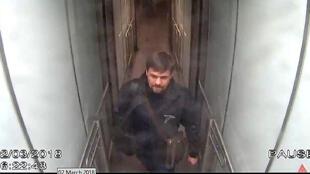 Image de vidéosurveillance montrant Rouslan Bochirov, identifié comme étant Anatoli Vladimirovitch Tchepiga.