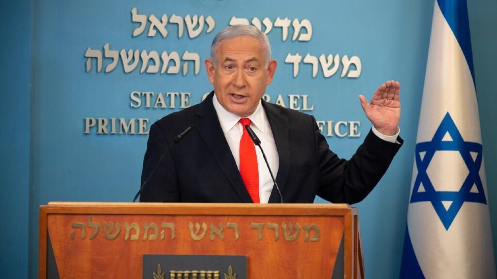 """""""Sé que estas medidas tienen un coste alto para todos nosotros, pero solo si cumplimos las reglas, y confío en que lo haremos, derrotaremos al virus"""", indicó el primer ministro, Benjamin Netanyahu. 13 de septiembre de 2020."""