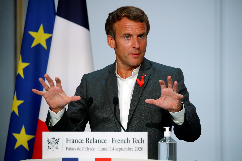 Emmanuel Macron, le 14 septembre 2020, à l'Élysée.