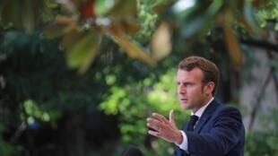 El presidente de Francia, Emmanuel Macron, en Córcega, el 10 de septiembre de 2020.