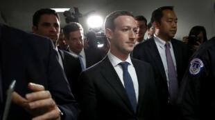 Mark Zuckerberg était au Capitole dès lundi 9 avril pour rencontrer des parlementaires avant son audition de mardi.