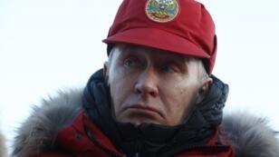 Vladimir Poutine était en visite dans l'Arctique le 29 mars 2017.