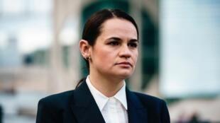 L'opposante biélorusse Svetlana Tsikhanouskaïa