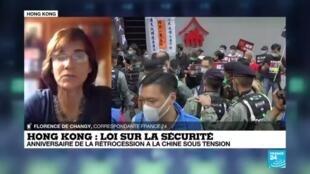 2020-07-01 10:02 Des arrestations à Hong Kong après l'adoption de la loi sur la sécurité par la Chine