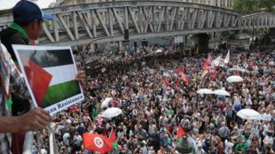 Manifestation de soutien à Gaza à Paris le 19 juillet