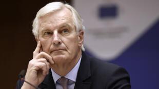 Michel Barnier s'est exprimé sur le Brexit à Bruxelles, mercredi 22 mars 2017.