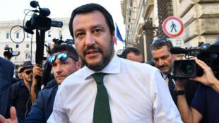 Matteo Salvini, le patron des souverainistes italiens et vice-Premier ministre chargé de l'Intérieur dans le gouvernement d'union.