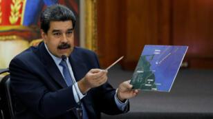 """El presidente venezolano, Nicolás Maduro, advirtió el 9 de enero de 2019 que podría aplicar """"crudas medidas"""" al Grupo de Lima si no rectifican su posición con respecto a su segundo mandato."""