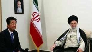 Iran's supreme leader Ayatollah Ali Khamenei tells visiting Japanese Prime Minister Shinzo Abe he has no response for US President Donald Trump as he does not consider him worthy of an exchange of messages