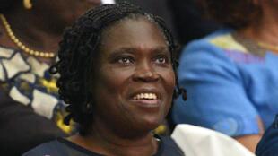 L'ex-première dame ivoirienne Simone Gbagbo au début de son procès devant la Cour de justice d'Abidjan, le 26 décembre 2014.