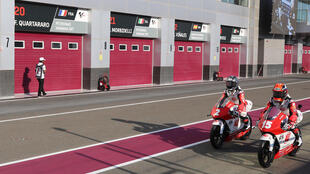 The pits were shuttered in Qatar before the MotoGP season could start on March 6