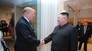 Donald Trump et Kim Jong-un, le 28 février 2018, à Hanoï.