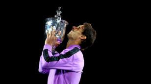 Rafael Nadal, héros victorieux de l'USOpen le 8septembre2019, à New York.