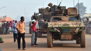 قوات فرنسية في بانغي،  14 فبراير 2014