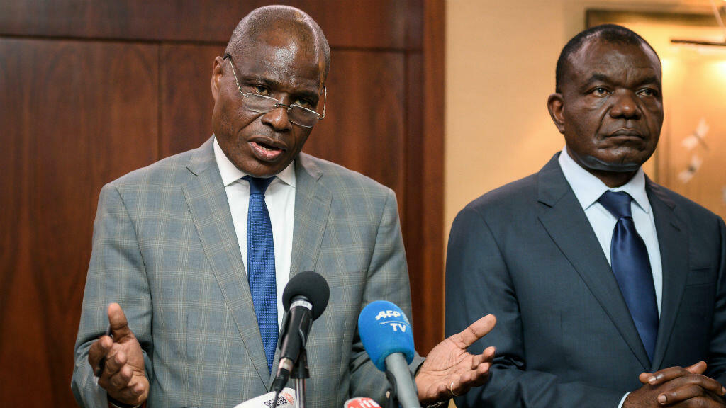 Martin Fayulu à Genève le 11 novembre après avoir été désigné candidat de l'opposition pour la présidentielle en RD Congo.