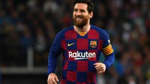 Lionel Messi avec le Barça, lors du dernier clasico contre le Real Madrid disputé au stade Santiago Bernabeu,  le 1er mars 2020