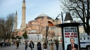 "Turkish President Recep Tayyip Erdogan said the Hagia Sophia will ""be taken out of"" its museum status and called a mosque"