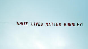 "The start to Manchester City's Premier League match against Burnley on Monday was marred by a plane flying overhead with a banner reading ""White lives matter Burnley"""